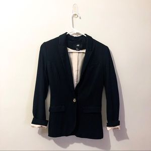 Button front blazer
